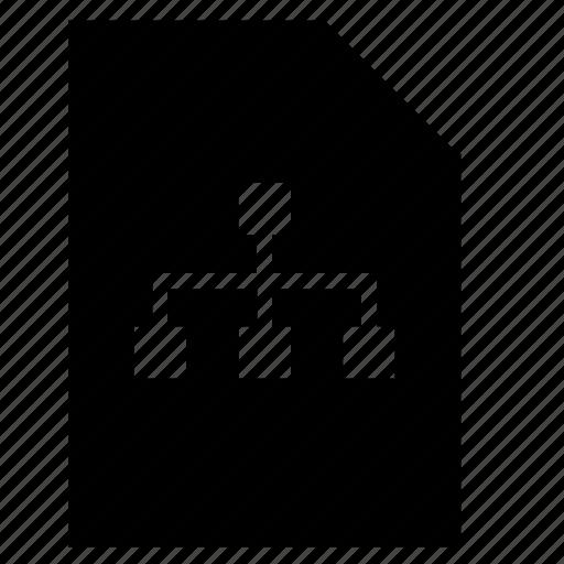corporate, file, list, structure icon