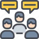 communication, meeting, people, team, teamwork, user icon