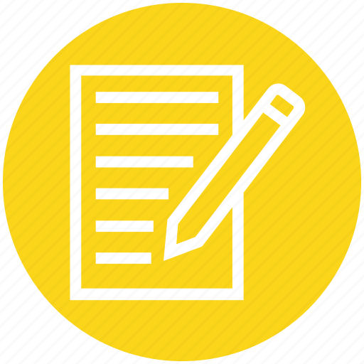 Document, edit, list, management, page, pencil, writing icon - Download on Iconfinder