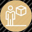box, carton, employee, male, management, user