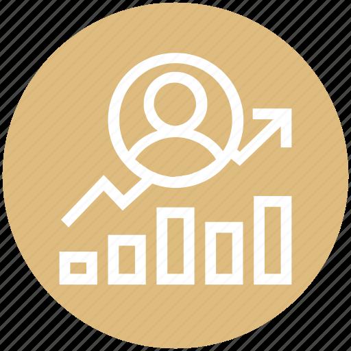 chart, circle, community, management, transaction, user icon