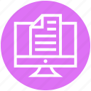 blank, document, file, lcd, management, working icon