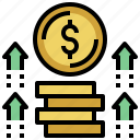 bank, business, dollar, exchange, finance, money, profit, profits, symbol, value icon