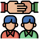collaboration, friends, gestures, hands, motivation, partnership, support, team, teamwork icon