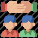collaboration, friends, gestures, hands, motivation, partnership, support, team, teamwork icon