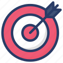 archery, dartboard, sports, target, target customers icon