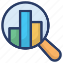 analytics, barchart report, growth analysis, market research, statical analysis, statistic report icon