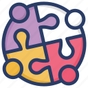jigsaw, jigsaw puzzle, mind games, puzzle, puzzle piece, tiling puzzle icon