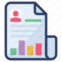 business document, business paper, cv, document, file, folded paper icon