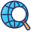 global search, international search, overall search, universal search, worldwide searching icon
