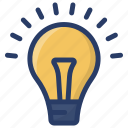big idea, excellent idea, idea, innovative, light bulb icon