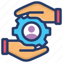 administration, employee protection, hr, human resource management, staff safety icon