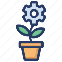 office plant, plant container, plant pot, potted plant, sapling icon