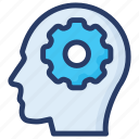 artificial intelligence, brain development, brain processing, brainstorming, creative thinking icon