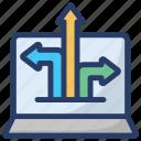 data flow, data transfer, data uploading, information transformation, online data transformation icon