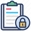 document protection, list protection, list security, protected list, secured list icon