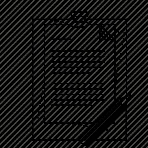 borad, clipboard, flip chart, paper, paper pencil, sheets icon
