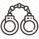 crime, handcuffs, jail, prisoner icon