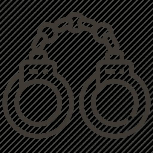 crime, handcuffs, jail, prisoner icon