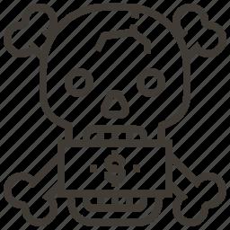 bones, dollar, money, skull icon