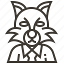 animal, cat, werewolf icon