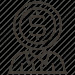 banker, dollar, money, teller icon