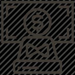 counter, dollar, machine, money icon