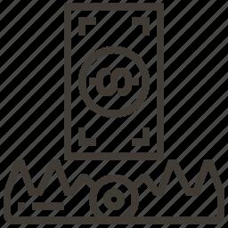 dollar, money, money trap, trap icon