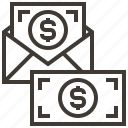 dollar, envelope, money icon