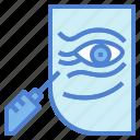 botox, eyes, rejuvenation, syringe, wrinkle