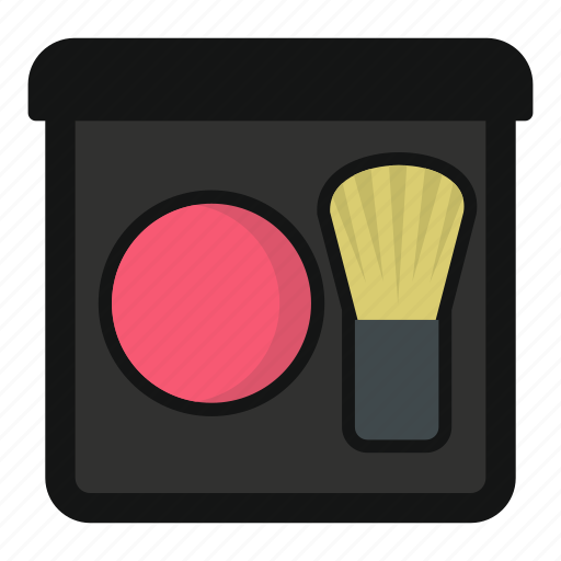 Beauty, blush, cosmetic, face, makeup, powder, skin icon - Download on Iconfinder