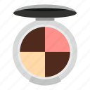 beauty, eye, fashion, glamour, palette, round, shadow icon