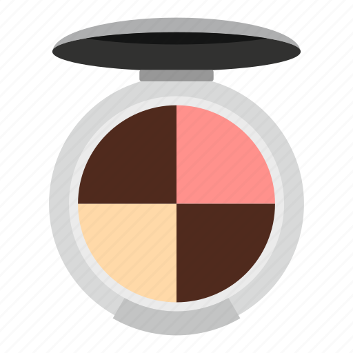 beauty, eye, fashion, glamour, palette, round, shadow icon