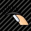 eye lashes, thumb, nail, curling, manual, cosmetic