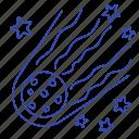 astronomy, meteorite, set, space, spaceship icon