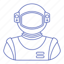 astronomy, cosmonaut, person, science, space, suit icon