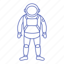 astronaut, cosmonaut, planet, space, suit icon