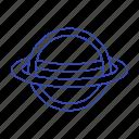 jupiter, planet, ring, space icon