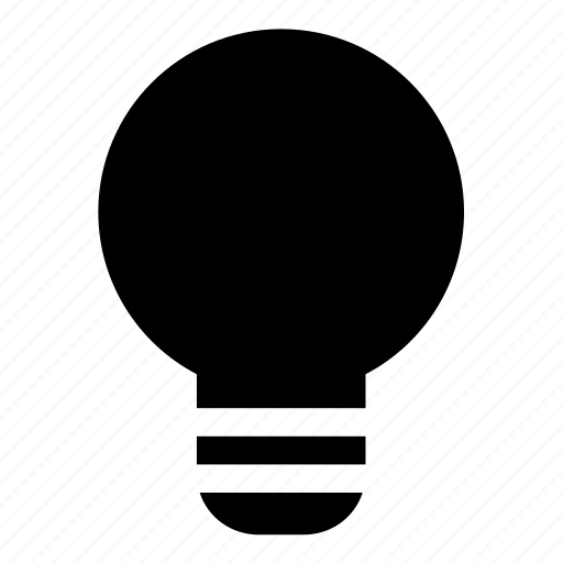 bulb, lamp icon