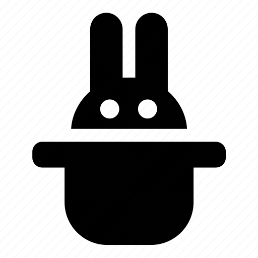 focus, hat, icojam, rabbit, wizard icon