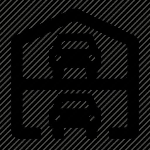 garage, multilevel icon