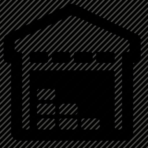 garage, hangar, storage, warehouse icon