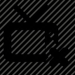 channel, delete, tv icon