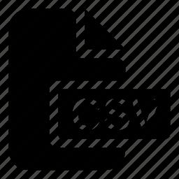 csv, format icon