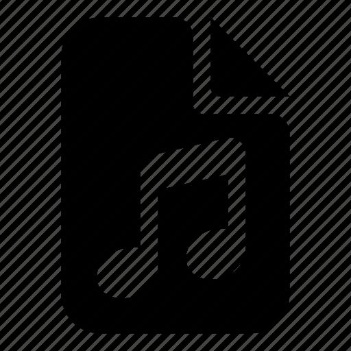 audio, document, mime, type icon