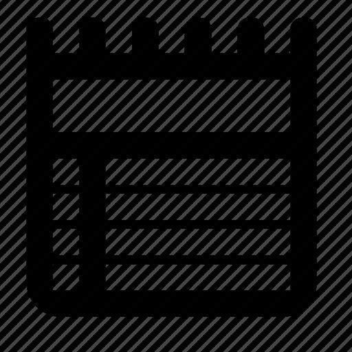 calendar, schedule icon