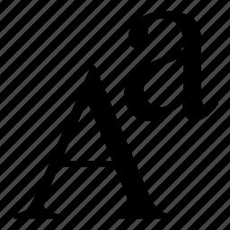 alphabet, font icon