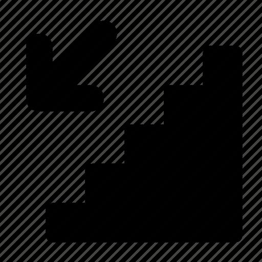 ladder, recession icon