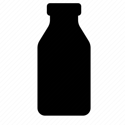 bottle, food, glass, kefir, milk icon