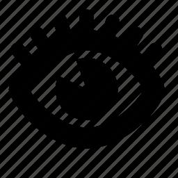 eye, eyelash icon